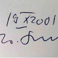 W. G. Sebald's Signature