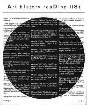 AIDS reading list