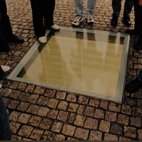Book burning memorial in Berlin
